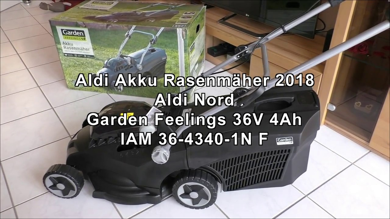 aldi akku rasenm her 2018 model garden feelings aldi nord unboxing viktor fox youtube. Black Bedroom Furniture Sets. Home Design Ideas