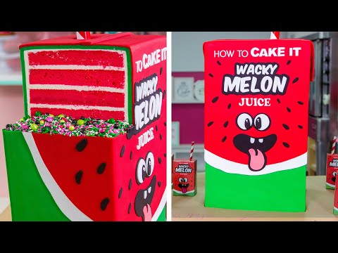 GIANT Juice Box Cake With JUICE INSIDE!! | How To Cake It