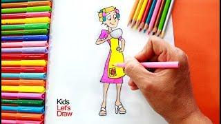 Cómo dibujar a DOÑA FLORINDA (El Chavo del 8 Animado) | How to draw Doña Florinda
