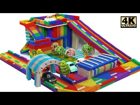 DIY - How To Build Amazing Car Parking From Magnetic Balls (Satisfying) | Magnet World Series