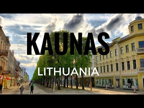 Kaunas, Lithuania. A look around and tour of the city.