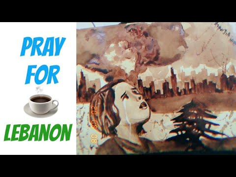 BEIRUT LEBANON EXPLOSION ARTWORK | COFFEE PAINTING