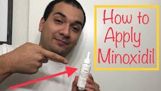 """""""For Hims"""" Applying Minoxidil Liquid"""