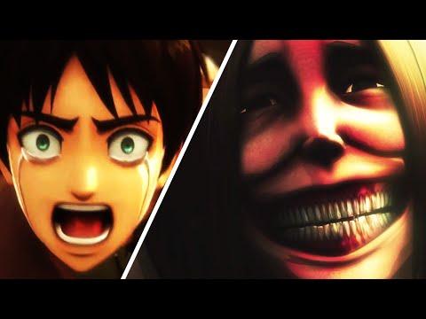 Attack On Titan PS4 Vs Anime Scene Comparison, Eren Mom Death Scene (Shingeki No Kyojin)