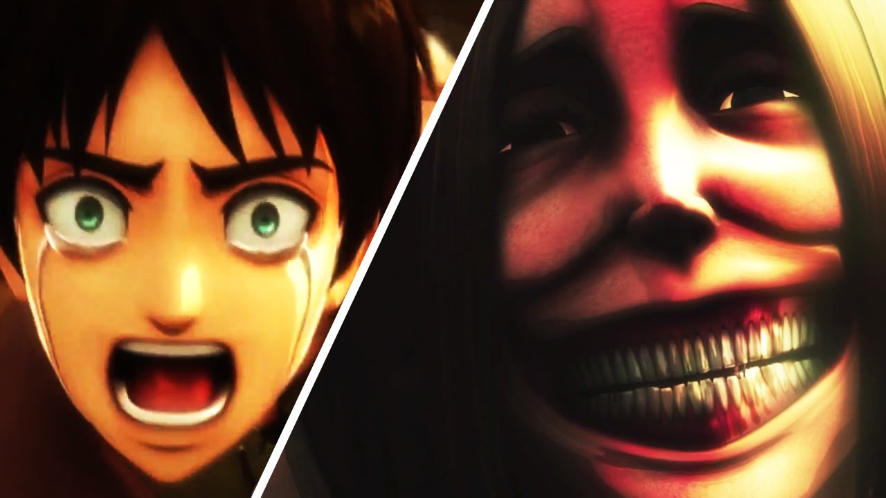 Attack On Titan PS4 Vs Anime Scene Comparison, Eren Mom Death Scene (Shingeki no Kyojin)