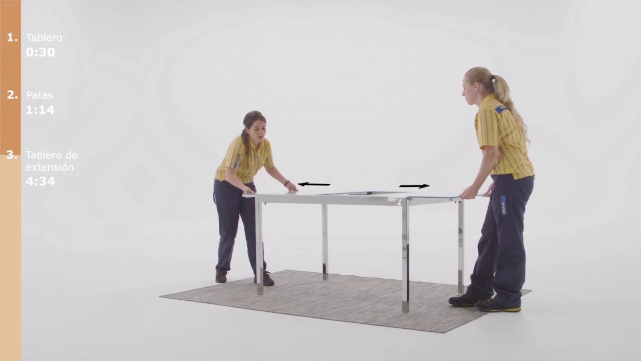 Instrucciones de montaje de la mesa GLIVARP - IKEA - YouTube