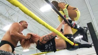Download [Free Match] Chris Dickinson & Shanna vs. Addy Starr & Matt Tremont - WSU Intergender Mixed Tag Mp3 and Videos