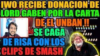 IWO RECIBE DONACION DE GABE NEWELL POR LA CARTA DEL UNBAN | SE CAGA DE RISA CON SMASH | DOTA 2