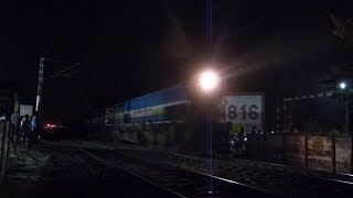 MY FIRST EMD WDP4B SPOTTING AT BHOPAL BGKT WDP4B 40039 IN LHF WITH SC JP EXPRESS !!