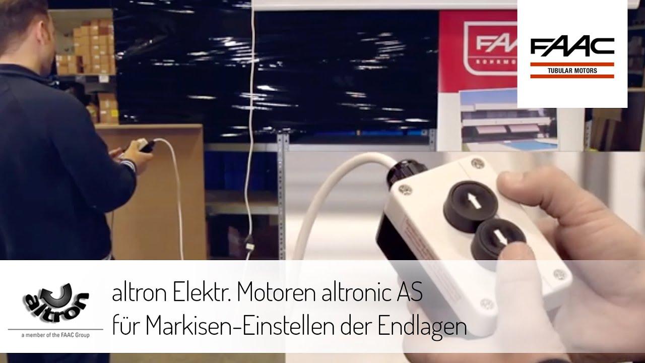 Altron Elektr Motoren Altronic As F R Markisen Einstellen