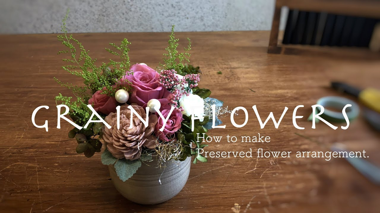 How To Make Preserved Flower Arrangement Rose And Refreshing