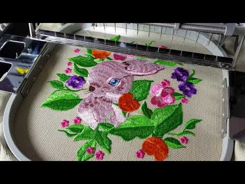 Bunny Machine Embroidery Design By Royal Present Embroidery -