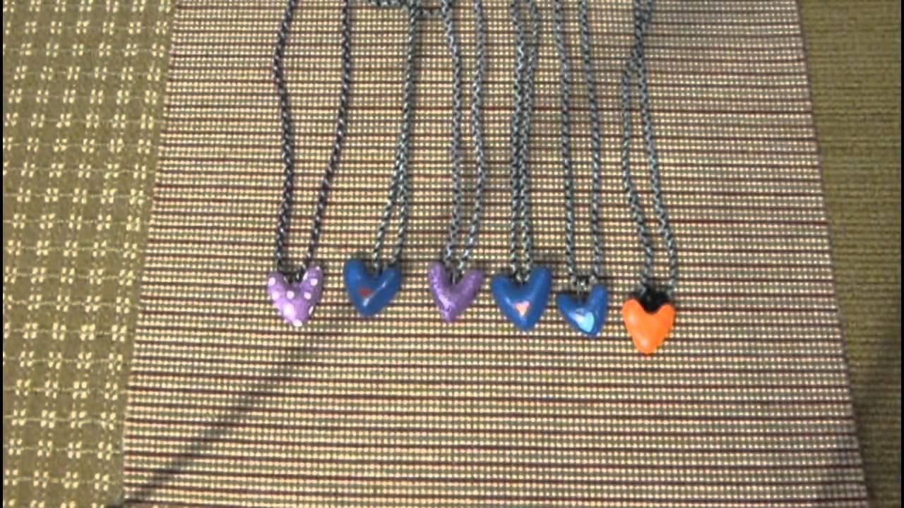 Heart necklace prototype collection salt dough craft youtube heart necklace prototype collection salt dough craft aloadofball Choice Image