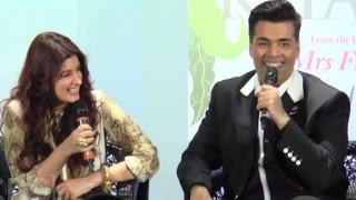 Twinkle khanna karan johar rapid fire at book launch