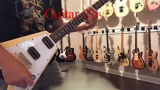 Guitar Cover - Africa - Weezer - Epiphone Flying V 68 Reissue - Cream Vintage White