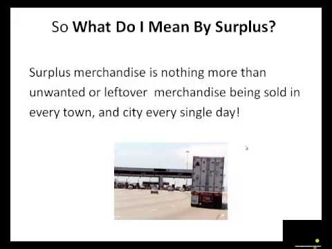 Make Money from Home with Surplus Merchandise