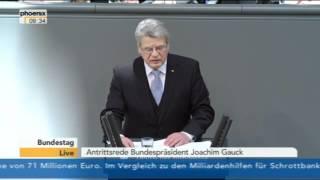23.03.2012 - Vereidigung und Rede von Bundespräsident Joachim Gauck