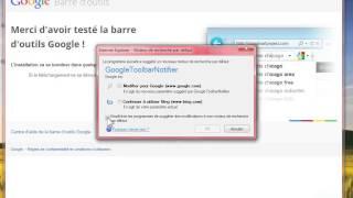 Installer la barre d'outils de Google