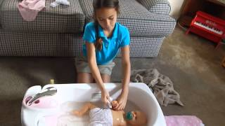 full body silicone baby sabrina s first bath