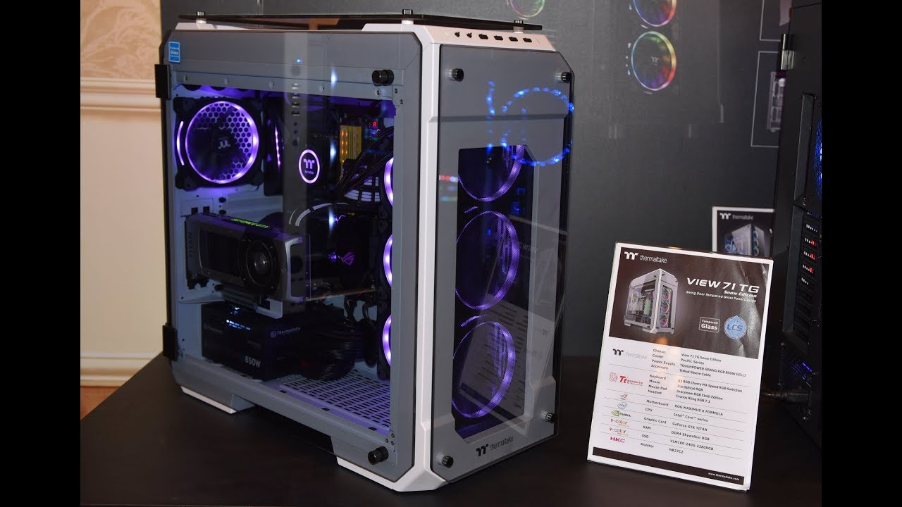 Thermaltake Announces The View 71 Tg Snow Edition View 37