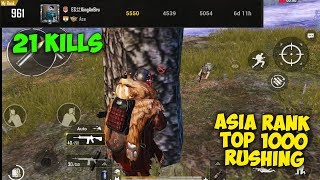 This Player did 21 Kills Alone in Asia Server TOP 1000 Rank | Pubg Mobile Conqueror Gameplay