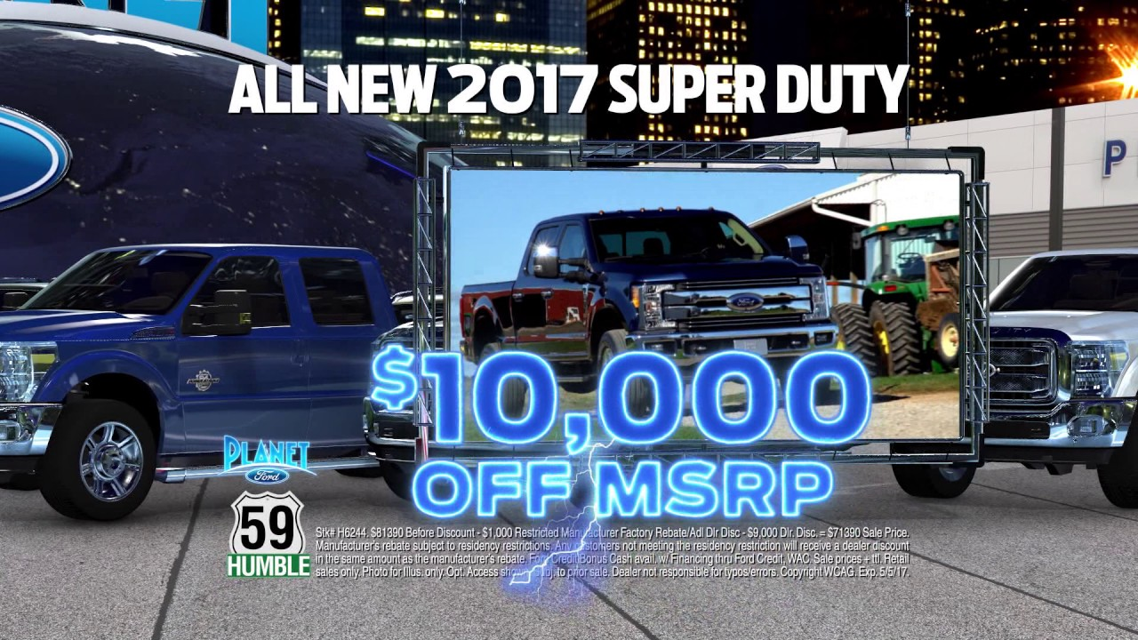 Planet Ford 59 >> Planet Ford 59: Awesome April Truck Month Savings! - YouTube