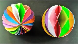 How to Make a Beautiful Honeycomb Ball With Paper | Very Stylish and Simple -DIY