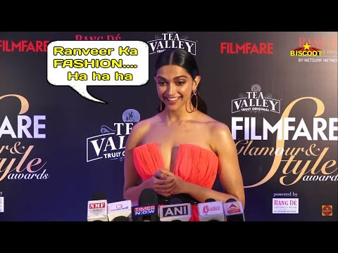 SHOCKING Deepika Padukone MOCKS Husband RANVEER SINGH''s FASHION SENSE At Filmfare Style A