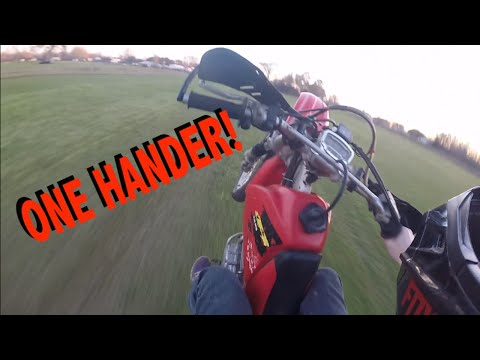 XR250 Wheelies!
