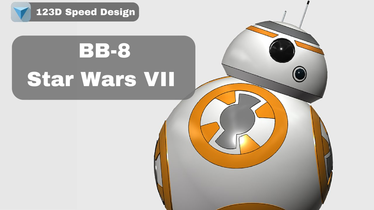 Bb 8 from star wars the force awakens 123d speed design for Bb design