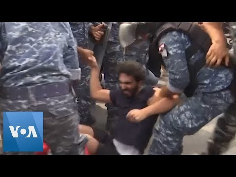 Police Remove Protesters Blocking Roads in Lebanon