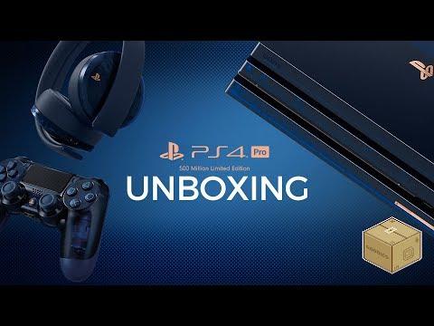 Así se ve el PS4 Pro 500 Million Limited...