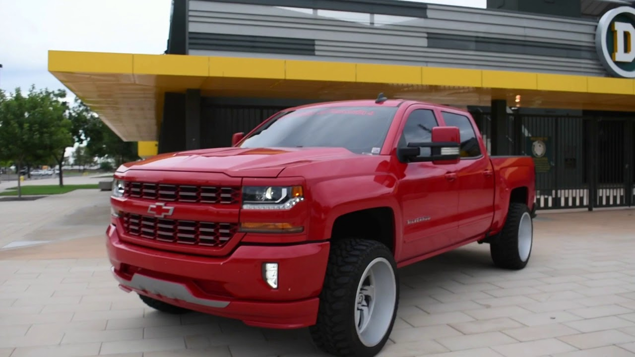 2017 Chevrolet Silverado Leveled On Some 22x12 Monster Off Road Wheels