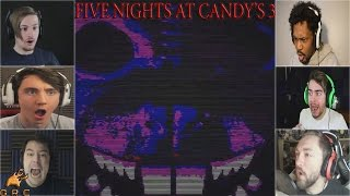 Gamers Reactions to the SHADOW RAT (Jumpscare)  | Five Nights At Candy's 3