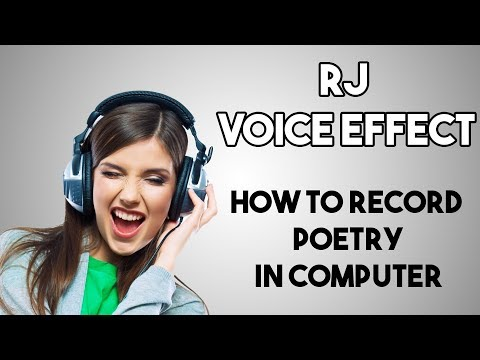 Poetry/Shayari Recording and Voice Effect in Audacity  | RJ
