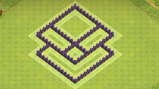 Clash Of Clans - Best Town Hall 5 Farming base ( th5 ) ! (the angry face) speed build 2014 !!