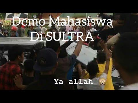 RICUH DEMO MAHASISWA KENDARI,SULAWESI TENGGARA