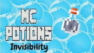 Minecraft Potions - Potion of Invisibility