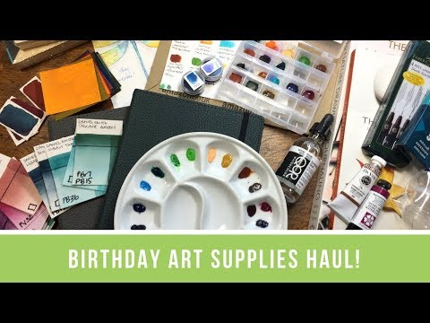 Birthday Extravaganza Haul | Art Store Goodies, Gifts, and Birthday Mail!