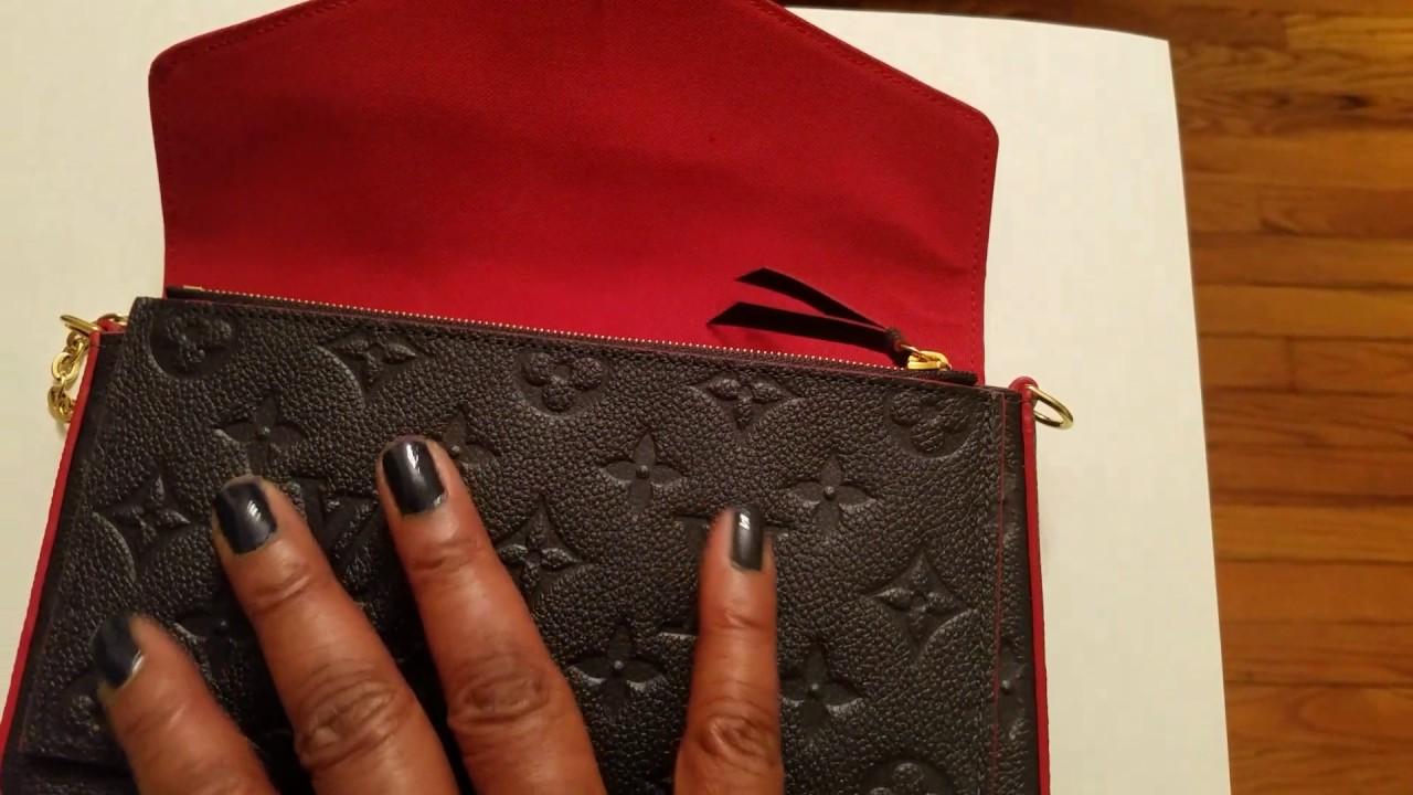 Newly Released...Louis Vuitton Pochette Felicie Empreinte Leather ... a0a65cf0196fd
