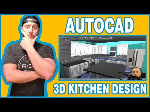 AUTOCAD 2020 - 3D KITCHEN AND CABINET DESIGN PART 1!