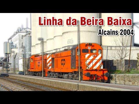 Comboios na estação de Alcains em 2004