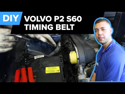 volvo timing belt replacement (s60 timing, serpentine, tensioner & rollers)