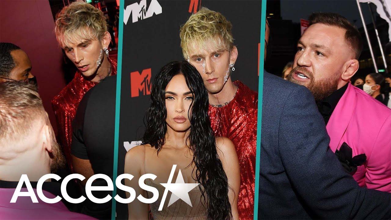 PlayTube: Megan Fox Tries To Stop Machine Gun Kelly & Conor McGregor's Fight At MTV VMAs