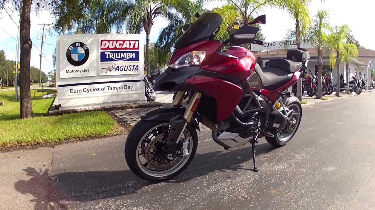 2012 ducati multistrada 1200 dark red custom paint at euro cycles