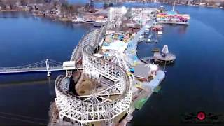 Must see Indiana Beach amusement park closing drone footage 4K