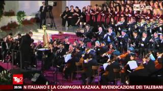 Concerto in Aula Paolo VI, Servizio del TG2