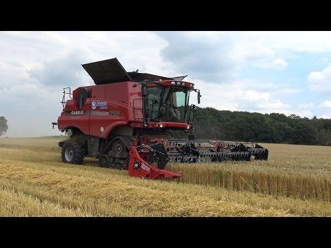 Zomergerst oogst met Case IH 7230 Axial-Flow combine - Maas Markelo (2016)