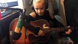 This is the first song Peyton has ever learned on guitar, a Tears F...