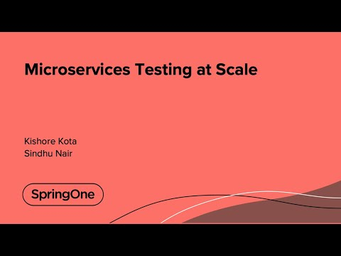Microservices Testing at Scale
